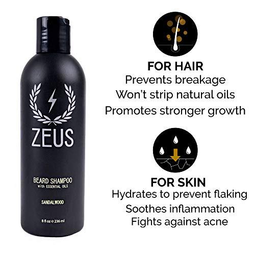 ZEUS Deluxe Beard Grooming Kit for Men, Sandalwood ...